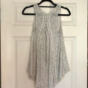 Anthropologie Lace-Up Back Tank